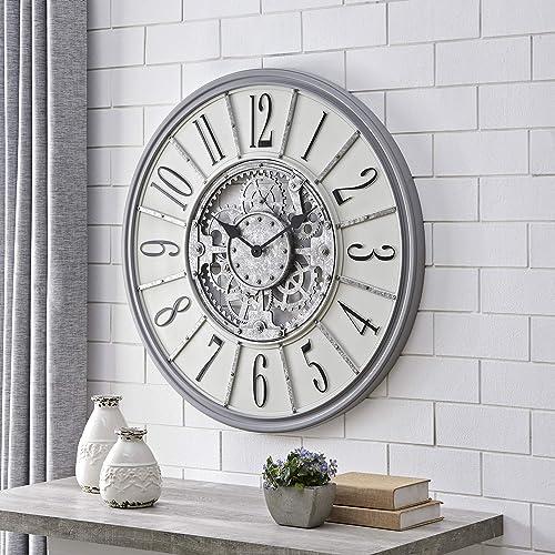 FirsTime Co. Gray Montevello Farmhouse Gears Clock