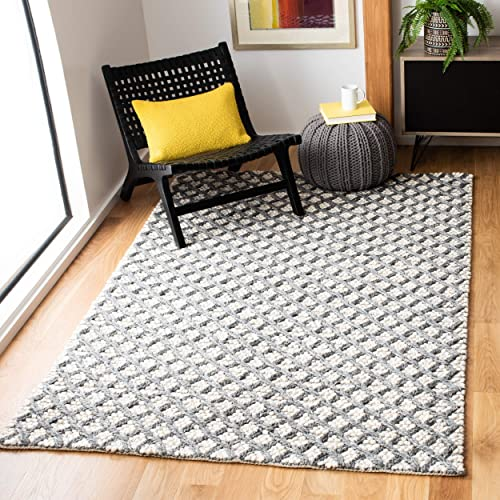 Safavieh Natura Collection NAT404F Hand-Woven Area Rug, 8 x 10 , Grey Beige