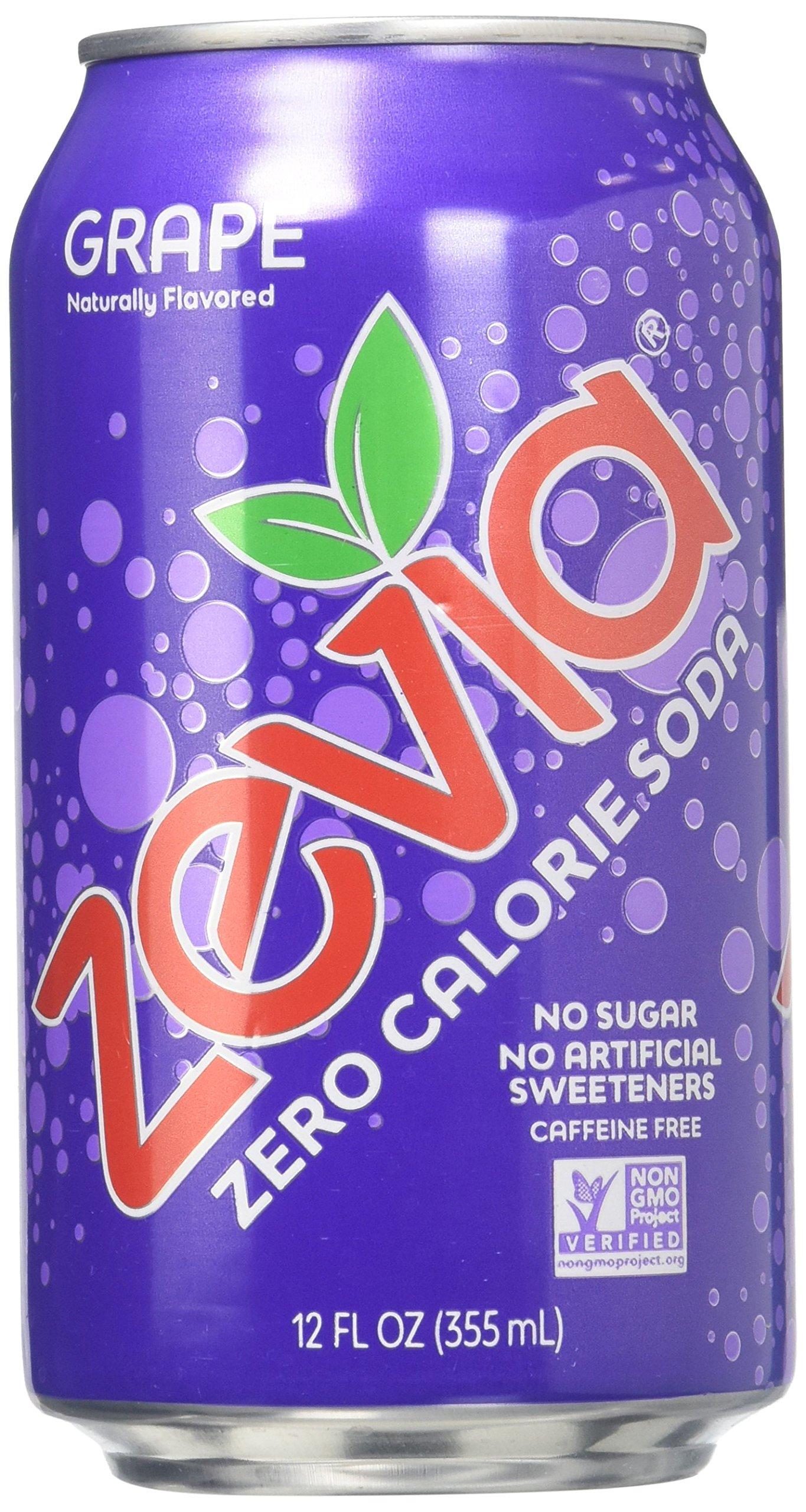 Zevia Zero Calorie Soda - Grape - 12 oz - 6 pk