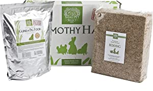 Small Pet Select Deluxe Combo Pack: Timothy Hay (10 Lb.), Guinea Pig Food (5 Lb.), Bedding (56L)