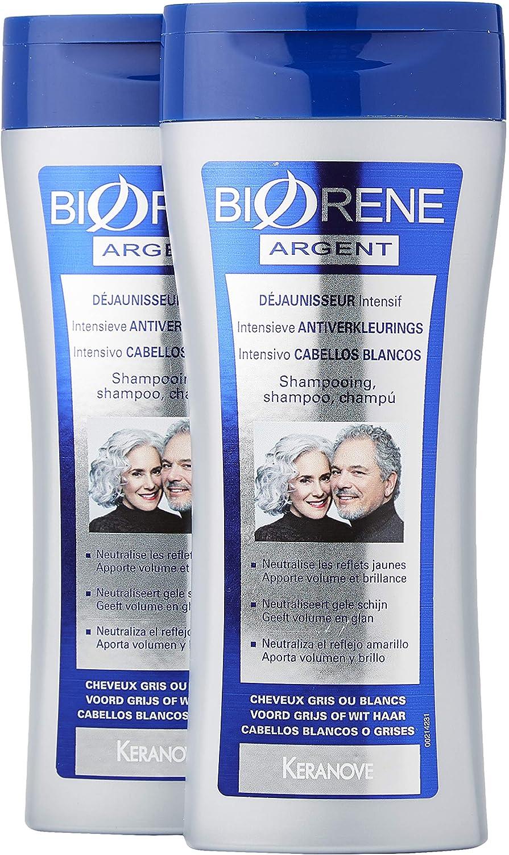 Biorene Champú Intensivo para Cabellos Blancos - 2 Recipientes de 200 ml - Total: 400 ml: Amazon.es: Belleza