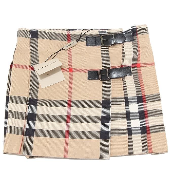 low priced 52a88 0dd6b 0468N gonna bimba BURBERRY check cotone lana gonne kilt skirts kids