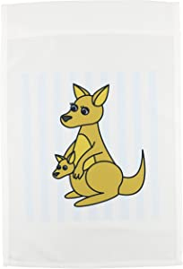 3dRose fl_6152_1 Mom and Baby Kangaroo Design Garden Flag, 12 by 18-Inch
