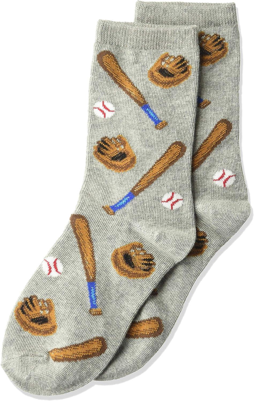 Hot Sox Boys Big Sports Series Novelty Casual Crew Socks