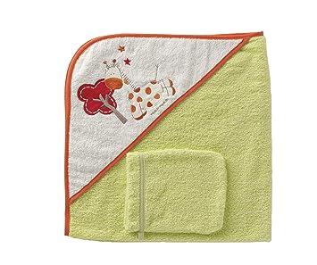 Amazon.com: Naf-Naf bebé toalla con capucha y manopla de ...