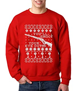 Red Ryder Bb Gun  Funny Christmas Story Movie Outfit Red Crewneck Sweatshirt