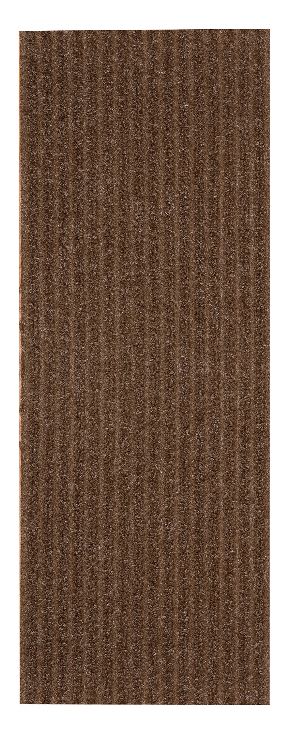 NaturalAreaRugs Halton Carpet Stair Treads - Chocolate, Beige, Charcoal and Red, 9'' x 29'' Set of 13