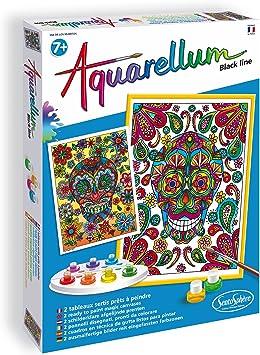 Sentosphere Aquarellum Black Line Dia De Los Muertos Color