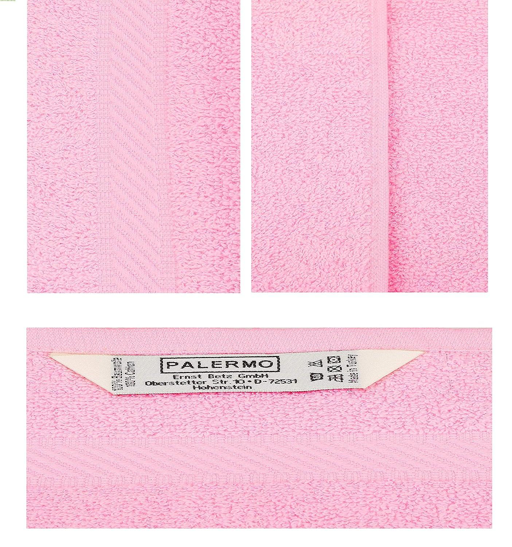 Betz 12 St/ück G/ästehandt/ücher G/ästehandtuch Palermo 100/% Baumwolle Gr/ö/ße 30x50 cm Handtuch G/ästet/ücher Set Farbe wei/ß und ros/é