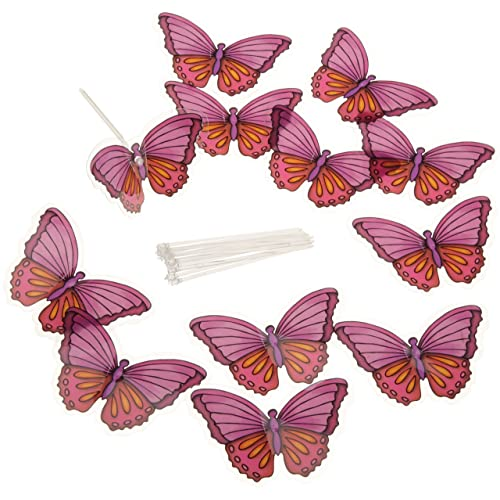 Wilton 120-1173 Dimensional Warm Butterfly Cake Side Picks, 12 Count