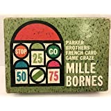 Mille Bornes; Parker Brothers French Auto Race Card Game(1962 Vintage)