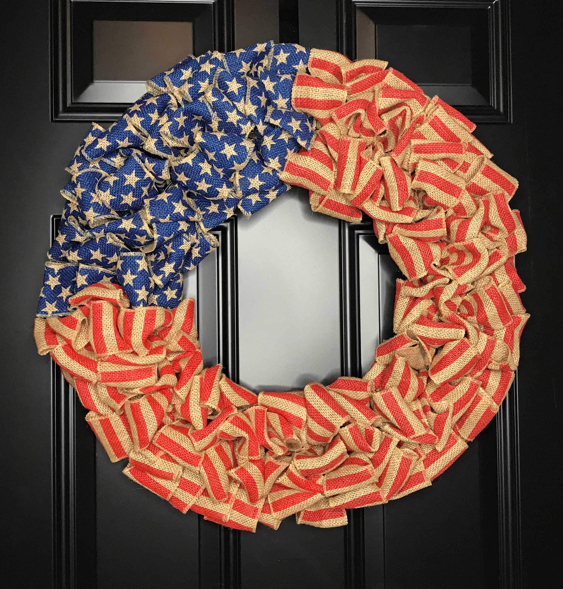 Patriotic-USA-American-Flag-Wreath-for-Front-Door-Porch-Memorial-Day-July-4th-Veterans-Labor-Day-Indoor-Outdoor-Summer-Americana-Home-Decor-Burlap-Red-White-and-Blue-Handmade-Choose-20-or-24