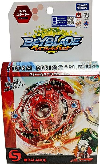 Spryzen Burst Beyblade Starter Set With Launcher And Grip B-35 Storm Spriggan