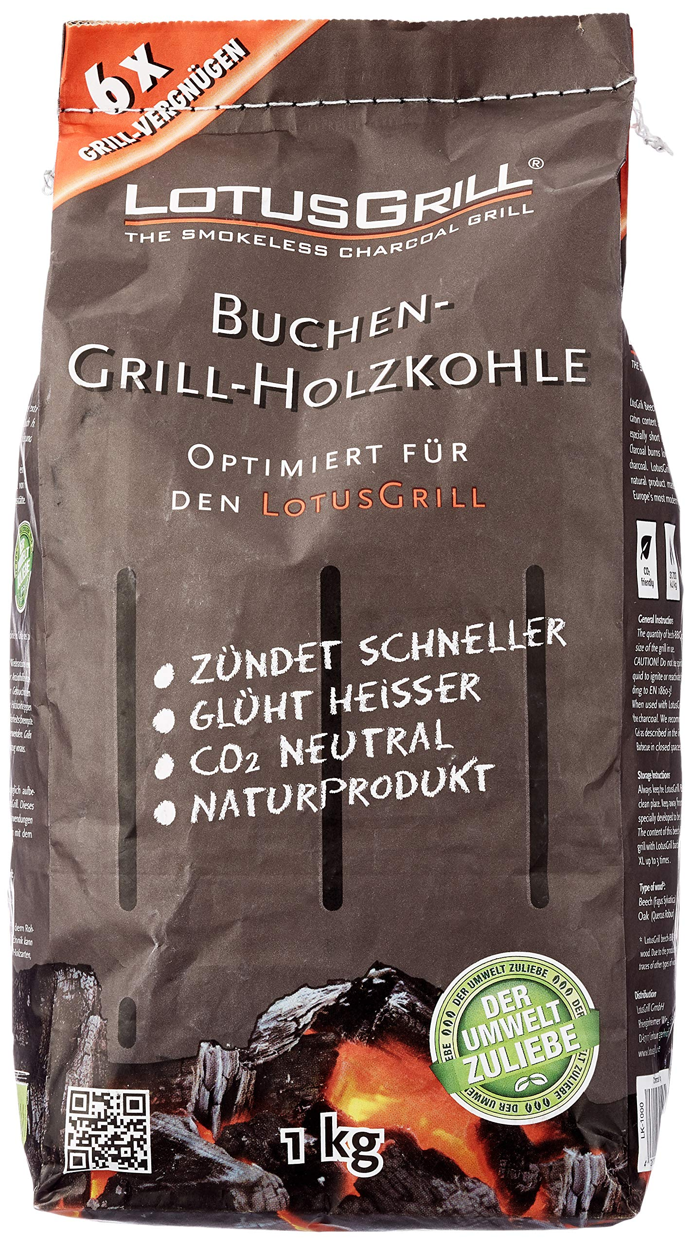 LotusGrill 1 kg Charcoal
