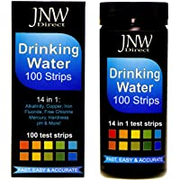 JNW Direct Drinking Water Test Strips 14 in 1, Best Kit for Accurate Water Quality Testing at Home, Ultra Low Level Sensitivity, Easy to Read & Instant Results (Packaging May Vary)