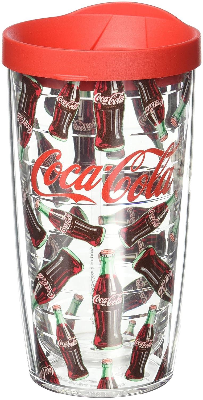 Tervis Coke Flasche Muster Wrap Tumbler mit rotem Deckel, 473 ml ...