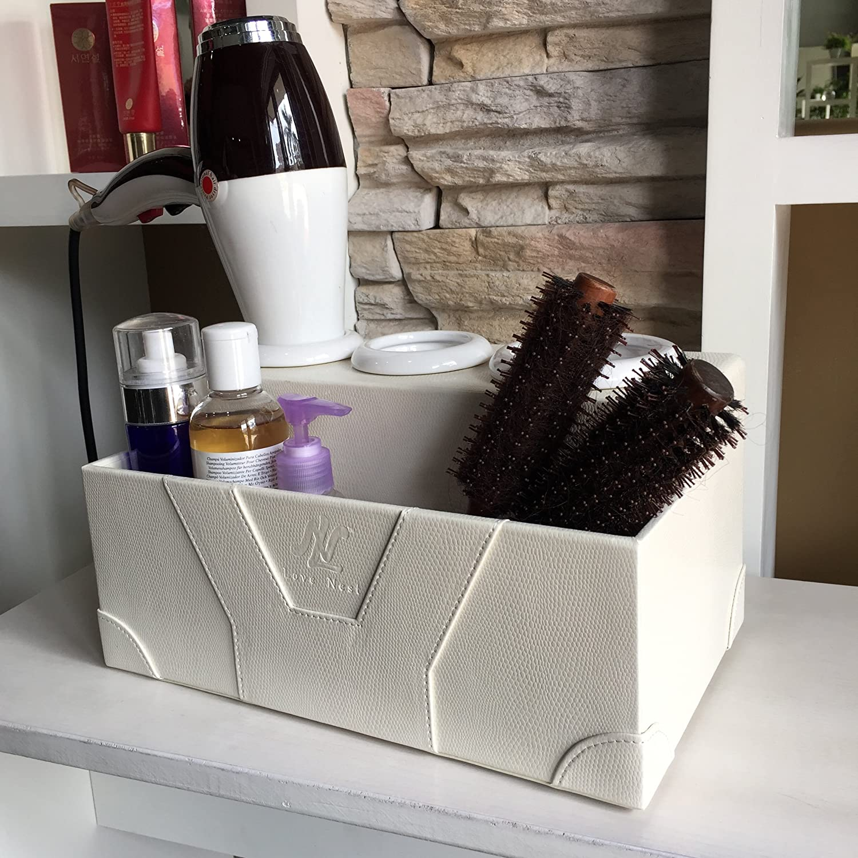 Love Nest Hair Dryer Holder Bathroom Organizer White Personal Snake Pu Leather Ceramic Countertop Hair Styling
