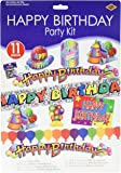 Happy Birthday Party Kit Party Accessory (1 count) (11/Pkg)