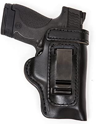 Glock 42 Gun Holster Pro Carry HD IWB CCW Leather Holster Black