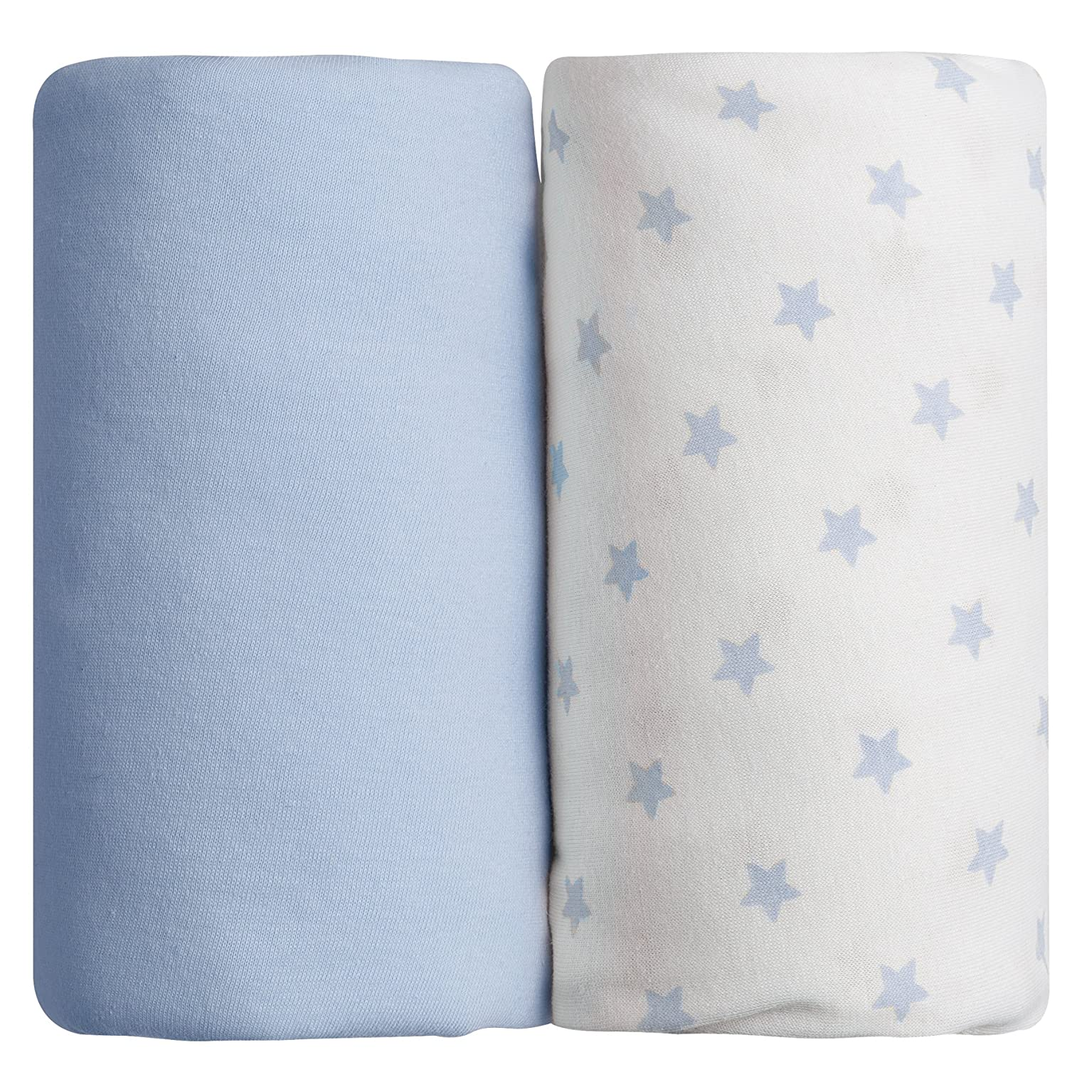 Babycalin Fitted Sheets (Set of 2Blue 60x 120cm BBC413807