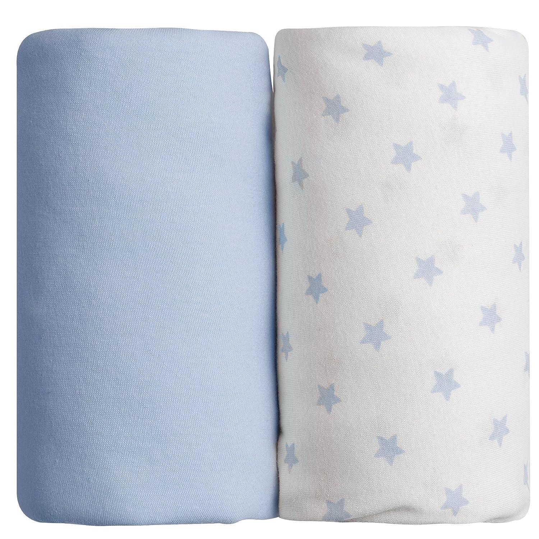 Babycalin - Lot de 2 draps housse bleu - 60x120 cm BBC413807