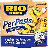 Rio mare - Per Pasta Puttanesca, con Tonno, Pomodori, Olive e Capperi - 6 scatolette da 160 g [960 g]