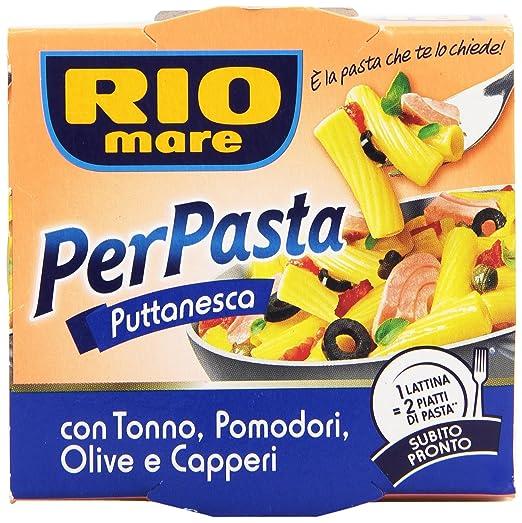 10 opinioni per Rio mare- Per Pasta Puttanesca, con Tonno, Pomodori, Olive e Capperi- 6