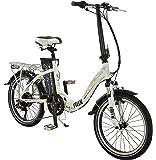"Falcon 20"" Flux Electric BIKE - Low Step Folding e-bike Bicycle (Mens) in SILVER"