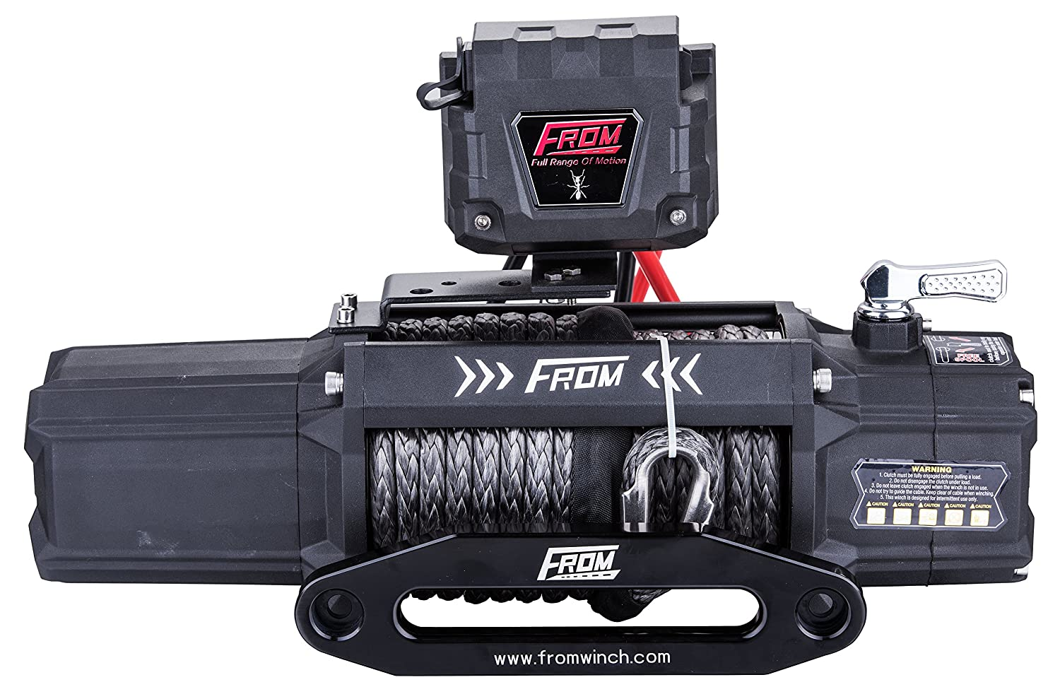 Amazon.com: FROM ANT Series Electric Winch 12500lbs 6.0HP 12V Offroad Winch for ATV/UTV/Jeep with Synthetic Rope FA12.5S: Automotive