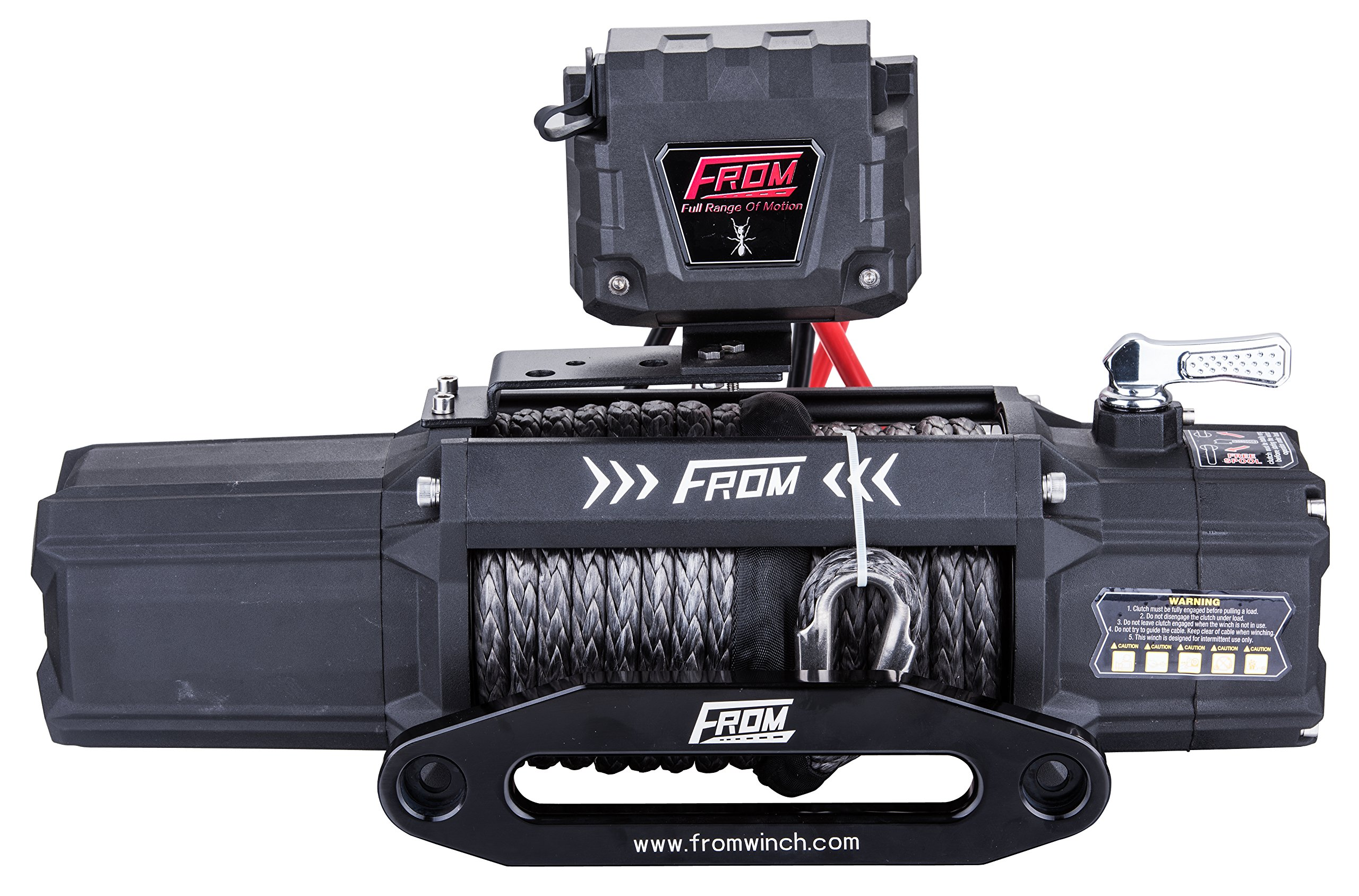 FROM ANT Series Electric Off Road Winch 9500lbs 5.5HP 12V for ATV/UTV/Jeep with Synthetic Rope FA9.5S