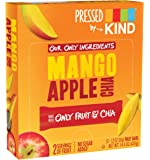 Pressed by KIND Fruit Bars, Mango Apple Chia, No Sugar Added, Non GMO, Gluten Free, 1.2oz, 12 Count