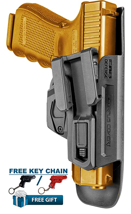 Covert G-9 Fab Defense Scorpus Inside Waistband Holster for FN: FNS-9,  FNS-9 Compact + KIRO Leather Key Chain