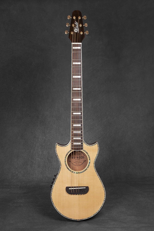 Guitarra de viaje Lindo Voyager SE, electroacústica, de abeto, con preamplificador de mezcla BS3M y sintonizador LCD acolchado: Amazon.es: Instrumentos ...