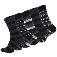 """Lot de 10 paires de chaussettes pour hommes, vêtements décontractés, """"STRIPES"""", avec du coton riche"""