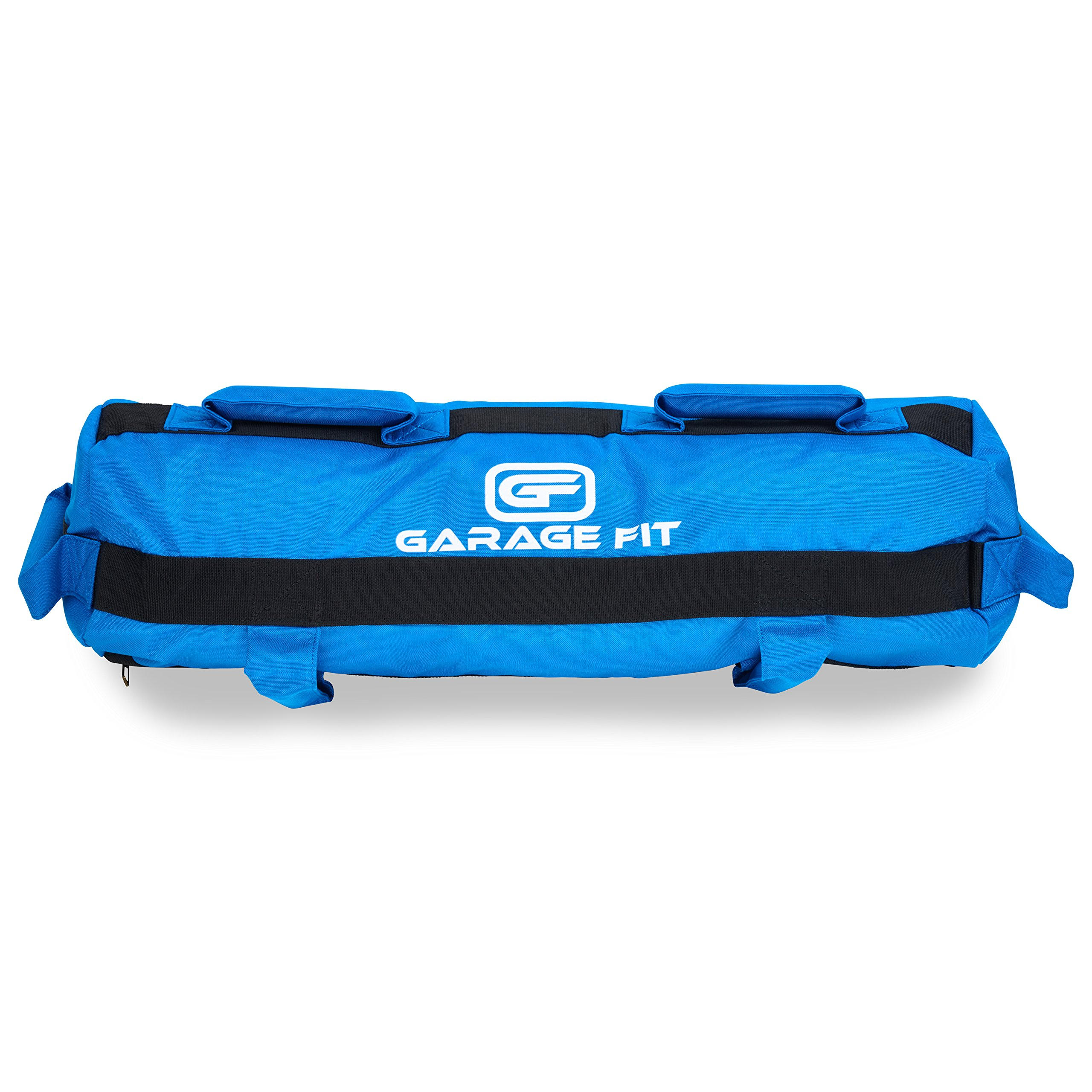 Garage Fit Heavy Duty Workout Sandbags for Fitness, Exercise Sandbags, Military Sandbags, Weighted Bags, Weighted Sandbag, Fitness Sandbags, Training Sandbags (Blue Rubber Core Handle, 20-60 lbs)