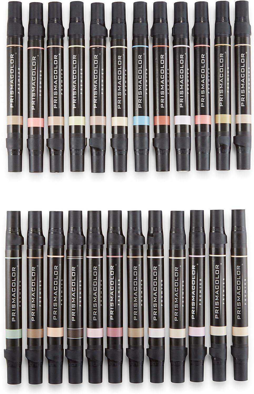 Prismacolor Premier Double Ended Art Markers Fine And Chisel Tip Portrait Set 24 Pack