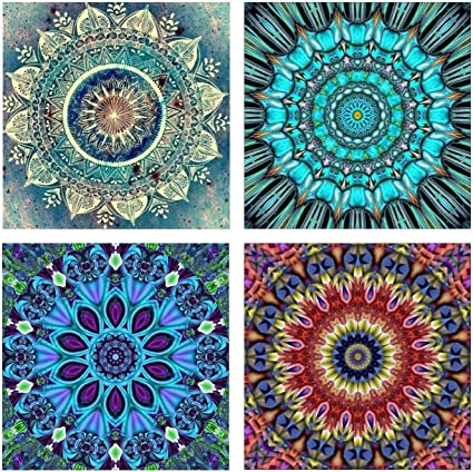 Flower DIY Diamond Painting Rhinestone Picture of Crystal Embroidery Kit 30x30cm