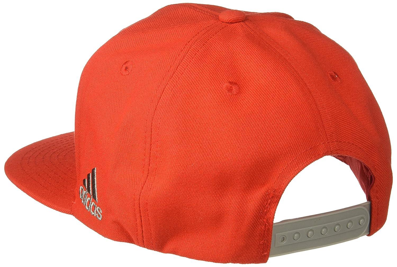 Red adidas NBA Houston Rockets Mens Tail Sweep Flat Brim Snapback Hat One Size