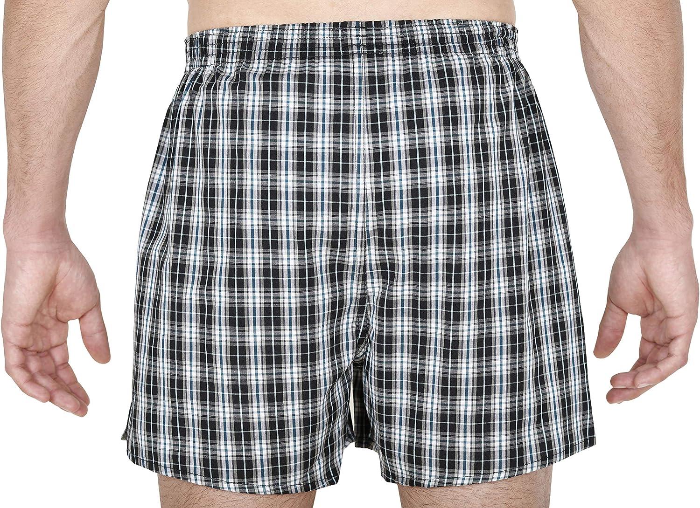 TAM/® 100/% Cotone Oeko-Tex/® Standard 100 vestibilit/à Ergonomica MC Boxer da Uomo Tessuto Premium Confezione da 3//4// 6
