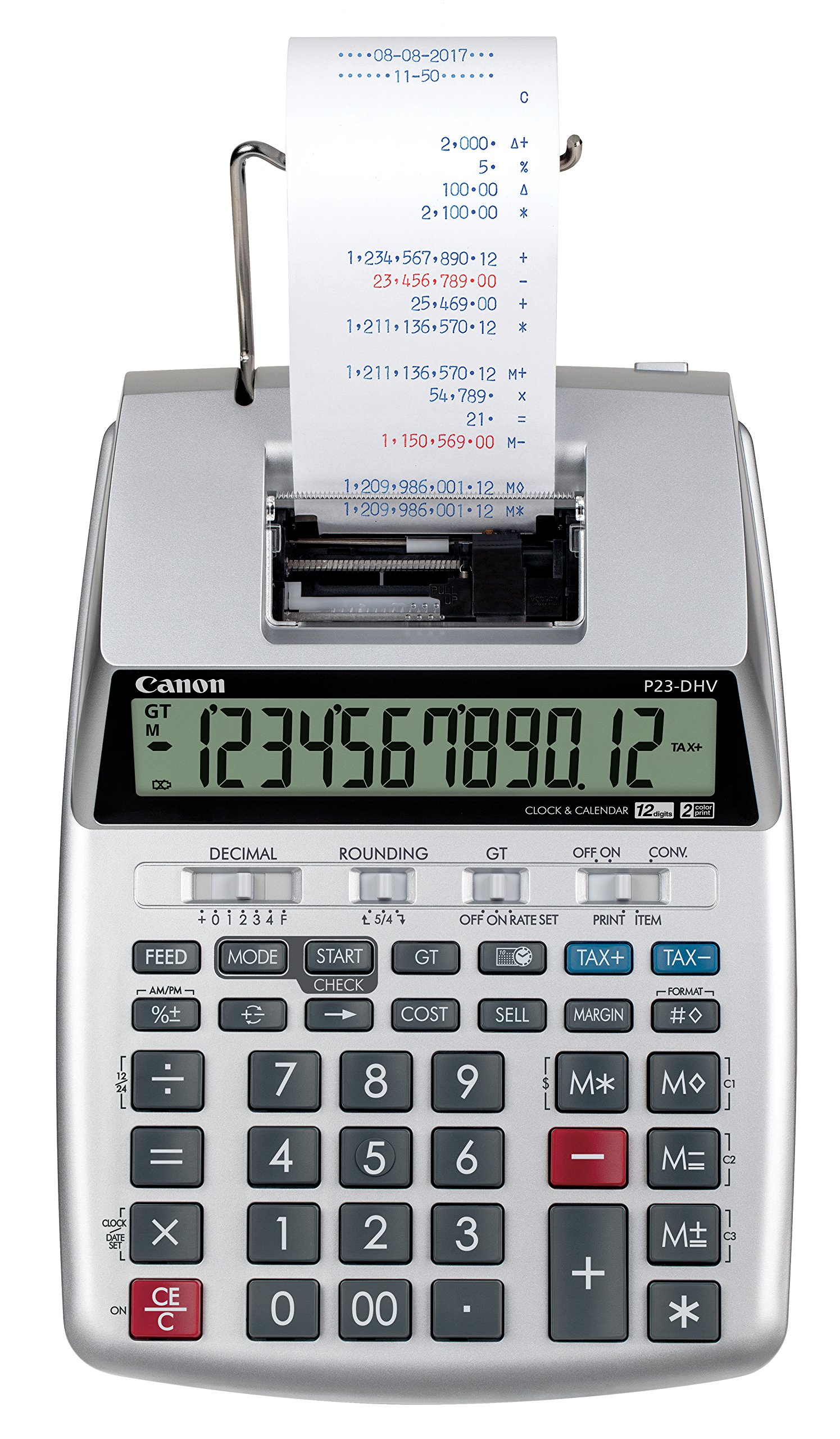 Canon P23-DHV-3 Printing Calculator with Double Check Function, Tax Calculation and Currency Conversion by Canon