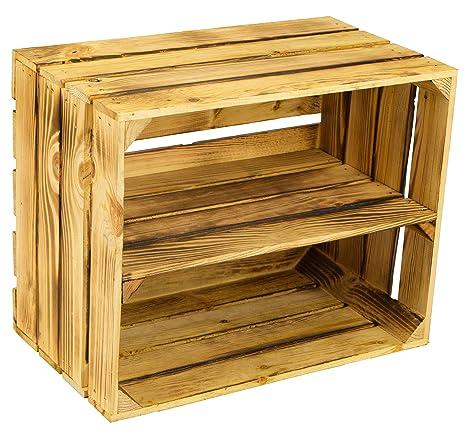 flameadas masiva Caja de fruta 49 x 42 x 31cm / Caja de manzana / Caja