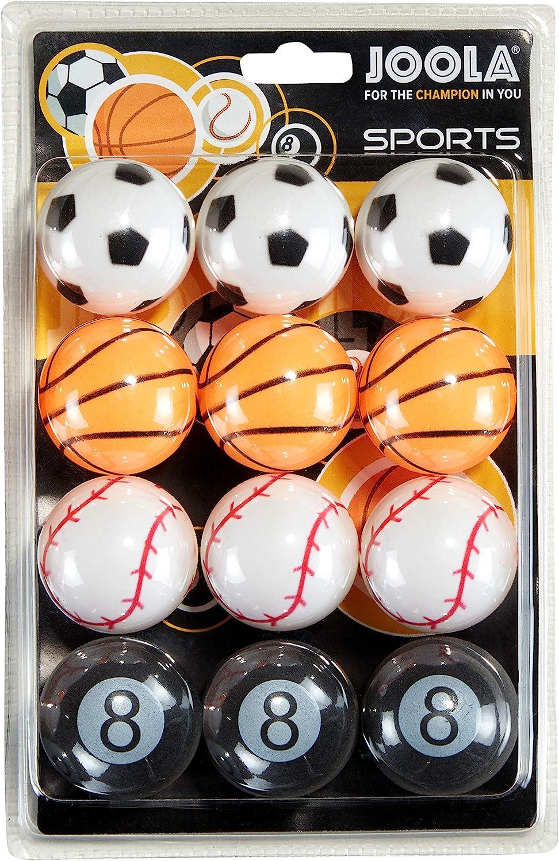 JOOLA - Set de 12 Pelotas de Tenis de Mesa con diseño Deportivo, 40 milímetros de 3 Estrellas de Calidad de Entrenamiento, Pelota Uniforme, Duradera, para niños y Adultos, Multicolor