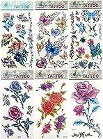 6 sheets temporary tattoo stickers fake tattoo set