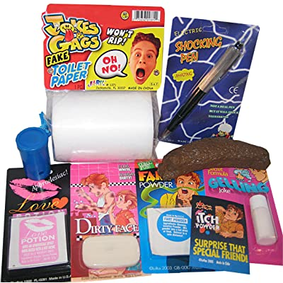 The One Stop Fun Shop College Dorm Prank Kit - 9 Hilarious Pranks and Gags: Toys & Games