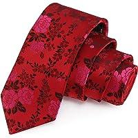 Peluche Striking Red & Pink Colored Microfiber Necktie for Men