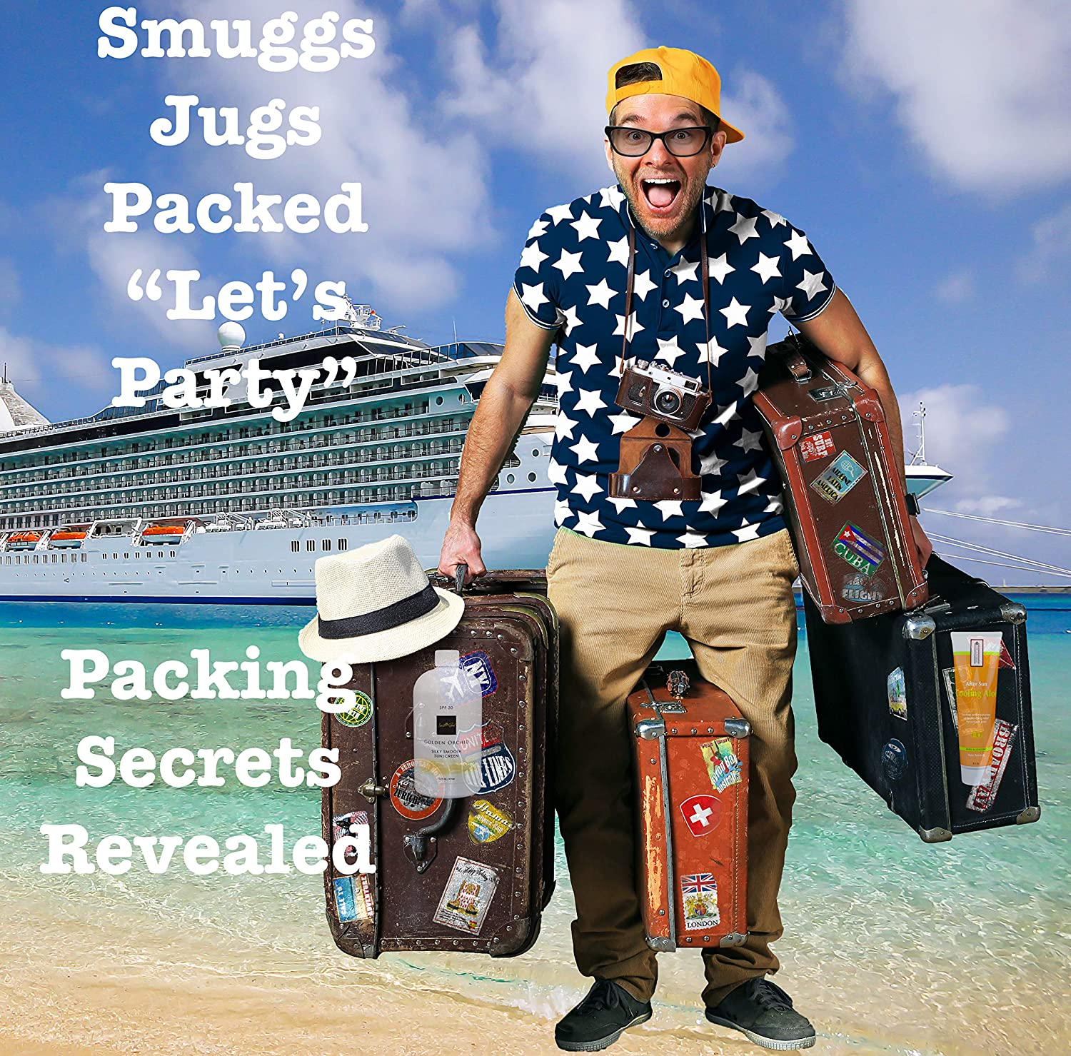 2-16oz 2-8oz Smuggle Booze Be a Rum Runner Cuise Pool Concert Smuggs Jugs Flask 2-Bottle 2-Tube