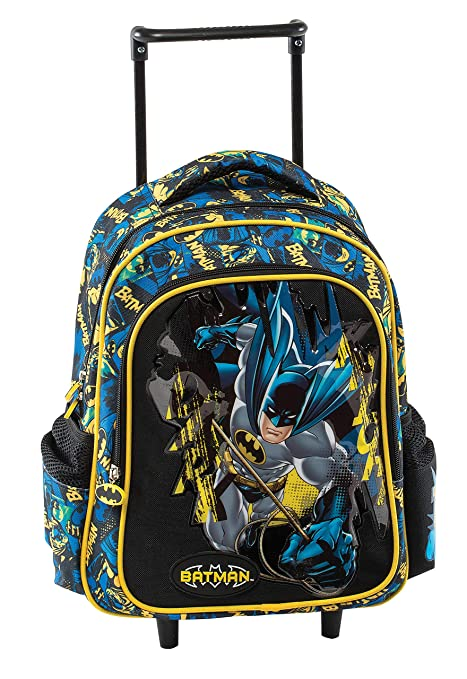 Graffiti Batman Mochila Escolar, 30 cm, Negro (Black)