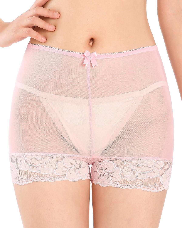 Satini Womens Nylon Sheer French Knickers Briefs Panties