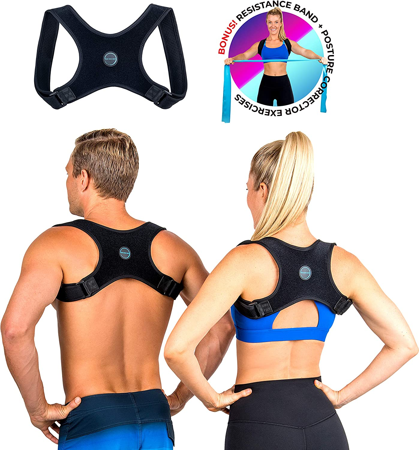 1. Blue Zone Body 3-Pack: Best Posture Corrector for Men and Women
