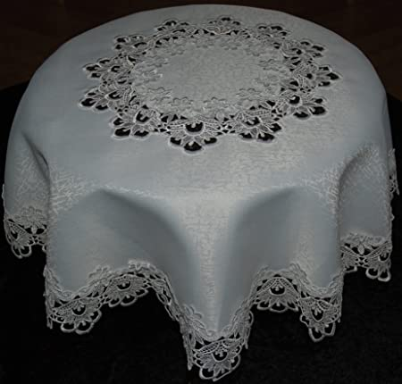 Lace Tablecloth Victorian Style In White